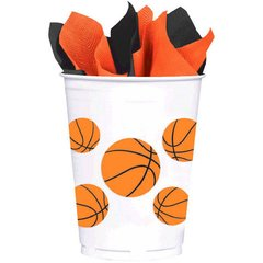 Basketball Fan Plastic Cups 8ct 14oz