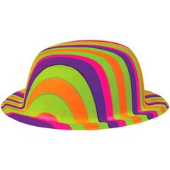 60's Bowler Hat - Rainbow