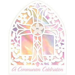 Communion Pink Large Novelty Invitations