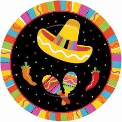 """Fiesta Fun Round Plates, 7"""""""