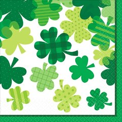 Blooming Shamrocks Luncheon Napkin