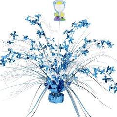 Communion Blue Spray Centerpiece w/Add-On