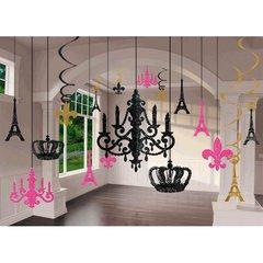 Day in Paris Glitter Chandelier Decoration Kit