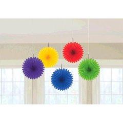 Rainbow Mini Hanging Fan Decorations
