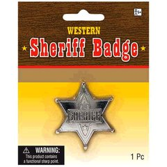 Sheriff Badge - Silver