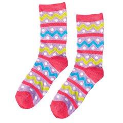 Easter Zig Zag Crew Socks - Child