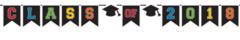 """2018"" Grad Class of 2018 Plastic Pennant Banner - Multicolor"