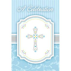 Blessings Blue Postcard Value Pack Invitations