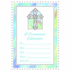 Communion Blue Value Pack Invitations