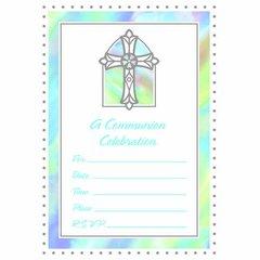Communion Blue Value Pack Invitations