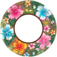 Beachy Blooms Round Plates, 7""