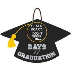 Grad Countdown Medium Sign W/ Chalkboard