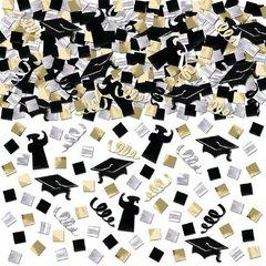 Grad Super Mega Value Confetti - Black, Silver & Gold