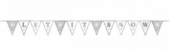 """LET IT SNOW"" Pennant Banner w/Glitter"