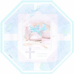 """Tiny Blessing Blue 7"""" Octagonal Plates 8ct"""