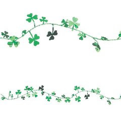Shamrocks Foil Wire Garland - Green