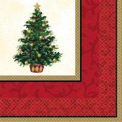 Classic Christmas Tree Beverage Napkins
