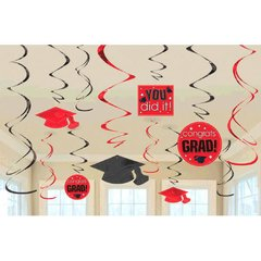 Apple Red Grad Value Pack Swirl Decorations