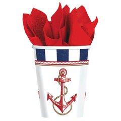 Anchors Aweigh Cups, 9 oz.