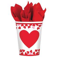 Confetti Hearts Cups, 9 oz.