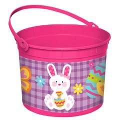 Girl Bunny Large Plastic Bucket
