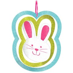 Bunny Spinning Decoration with Ribbon Hanger