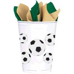 Soccer Fan Plastic Cups 8ct 14oz.