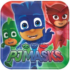 """PJ Masks Square Plates, 9"""""""