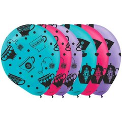 Mad Tea Party Printed Latex Balloons - Asst. Colors