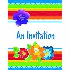 Cabana Rio Razzle Dazzle Invitations