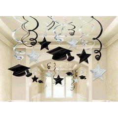 White Hanging Foil Swirl Decoration Mega Value Pack