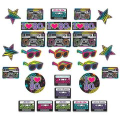 Totally 80's Mega Value Pack Cutout Assortment
