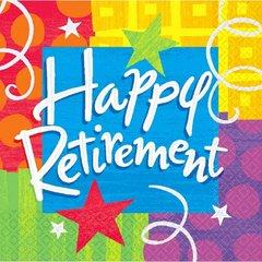 Happy Retirement Luncheon Napkins 16ct