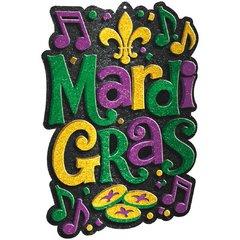 Mardi Gras Cutout