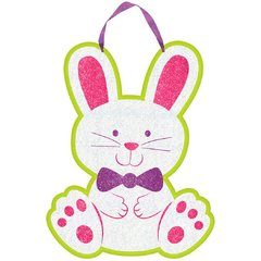 Bunny Sign with Ribbon Hanger