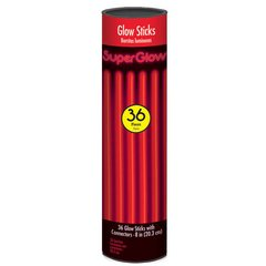 "8"" Glow Stick Tube - Red, 36 ct."