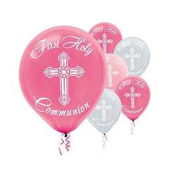 Communion Printed Latex Balloons - Pink