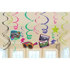 Totally 80's Value Pack Swirl Decorations