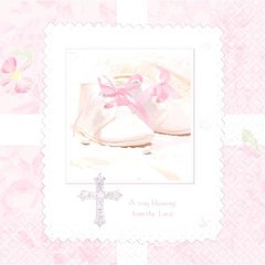 Tiny Blessing Pink Beverage Napkins, 16ct