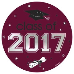 2017 Grad Car Decal - Berry