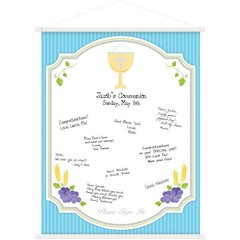 Communion Blue Sign-In Scroll