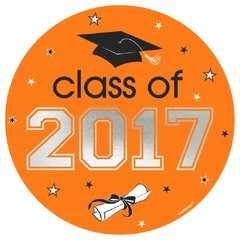 2017 Grad Car Decal - Orange