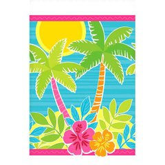 Summer Scene Plastic Table Cover