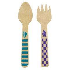 Mad Tea Party Cutlery - Printed Wooden