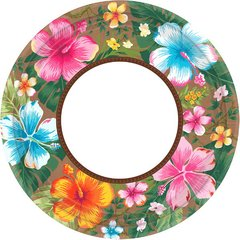 Beachy Blooms Round Plates, 10 1/2""