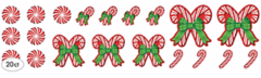 Candy Cane Printed Paper Mega Value Pack Cutout Assortment