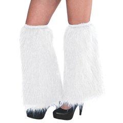 White Plush Leg Warmers