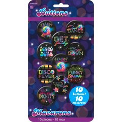 Disco 70's Buttons