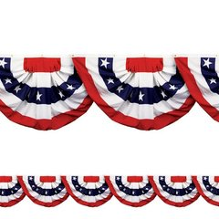 American Flag Bunting Border Roll