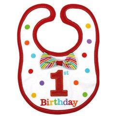 Rainbow 1st Birthday Bib-Boy